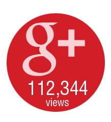 112,344 views on Google Plus