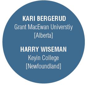 Kari Bergerud: Grant MacEwan University [Alberta], Harry Wiseman: Keyin College [Newfoundland]