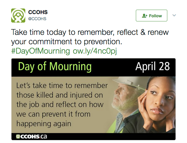 Take time today to remember, reflect & renew your commitment to prevention. #DayOfMourning. Day of Mourning