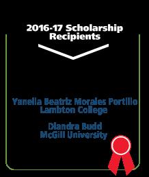 Yanella Beatriz Morales Portillo, Lambton College. Diandra Budd, McGill University