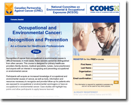 Go go Occupational and Environmental Cancer: Recognition and Prevention