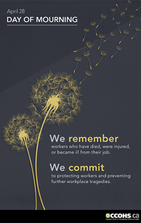 Preview a poster for Day of Mourning showing the April 28 date