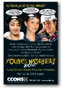 Young Workers Zone poster