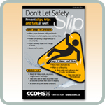 Don't Let Safety Slip poster