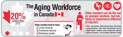 View The Aging Workforce in Canada Infographic