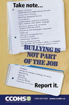 Bullying is Not Part of the Job Poster