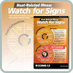 Heat-Related Illness: Watch for Signs poster's webpage