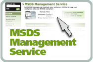 MSDS Management Service's product webpage