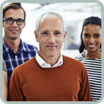 A webinar page titled Ages and Stages: Working Safely and Well Together