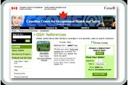 OSH References database's product webpage