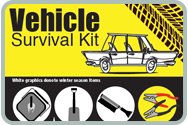Vehicle Survival Kit Fast Facts Card's webpage. Be prepared for an emergency on the road - keep your vehicle stocked with these essentials.