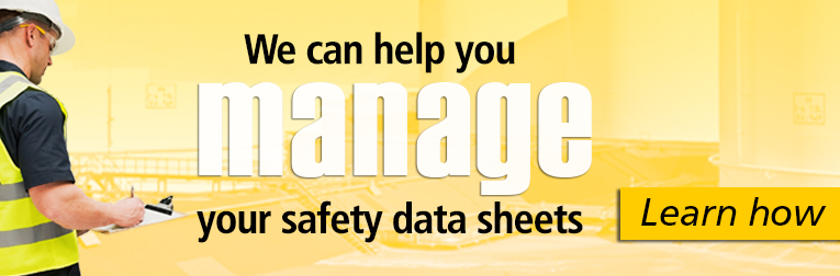 We can help manage your safety data sheets. Learn how.
