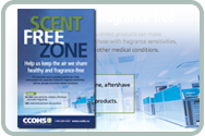 Scent-Free Zone poster's webpage