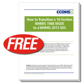 Free MSDS to WHMIS 2015 SDS White Paper