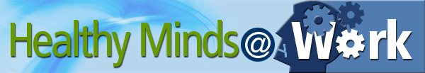 Healthy Minds @ Work banner serves as link to HMW home page