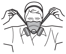 Procedure for putting on a half-facepiece respirator