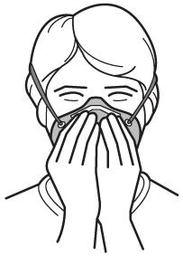 Seal check with a disposable respirator