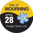 Day of Mourning Sticker (Forget-me-not)