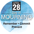 Day of Mourning Commemorative Pin (Clouds)