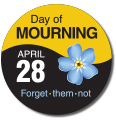 Day of Mourning Commemorative Pin (Forget-me-not)