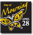 Day of Mourning Commemorative Pin (Butterfly)