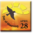 Day of Mourning Commemorative Pin (Sun)