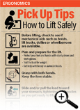 Pick Up Tips on How to Lift Safely Fast Facts Card