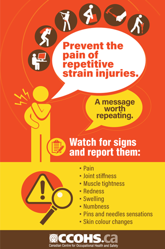 photo relating to Free Printable Safety Posters known as CCOHS: Posters