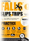Preventing Falls from Slips and Trips Infographic