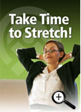 Take Time to Stretch! Bookmark