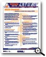 Image: MSDS Checklist