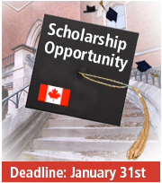 Scholarship Opportunity; Deadline: January 31st