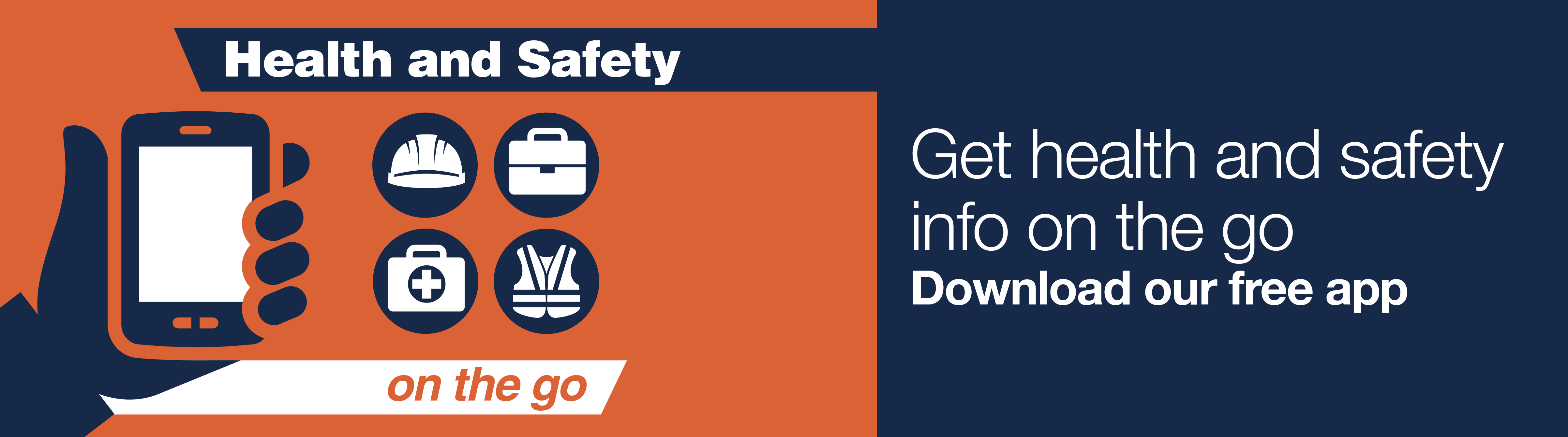 Get health and safety info on the go. Download our free app.