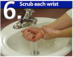 Scrub Each Wrist