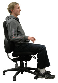 Sit upright