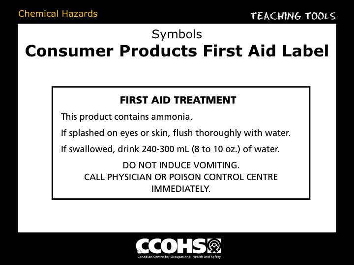 The Young Workers Zone : Teaching Tools : Chemical Hazards: Symbols