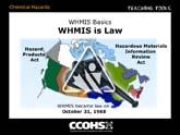 WHMIS Basics - WHMIS is Law