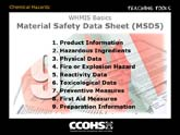 WHMIS Basics - Categories of MSDS