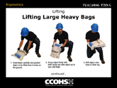 Proper Lifting of Heavy Objects